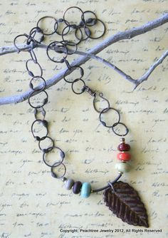 Handmade Necklace - Autumn Joy  visit peachtreeks.com to see more