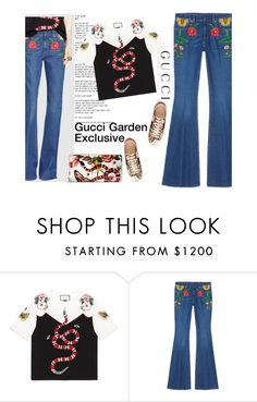 """Gucci Garden Exclusive"" by amimcqueen ❤ liked on Polyvore featuring Gucci"