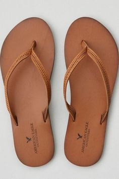 Step into style.  Shop the AEO Perforated Leather Flip Flop  from American Eagle Outfitters. Check out the entire American Eagle Outfitters website to find the best items to pair with the AEO Perforated Leather Flip Flop .
