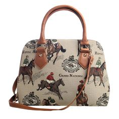 Durham Riders Club -- English Country Themed Equestrian Home Collectables - English Rider's Tote Bag