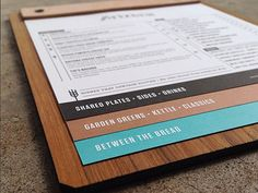 An instagram shot of the menus we are working on for Arizona. Local joint here in town. That is copper ink folks.