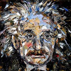 """Where ART Lives Gallery Artists Group Blog: Abstract Portrait """"Theory Of Relativity Albert Ein..."""