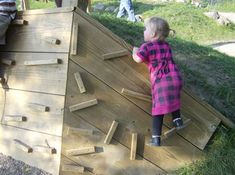Natural Playgrounds Store--these wooden holds are DIY-able and way cheaper than fabricated mountain climbing holds