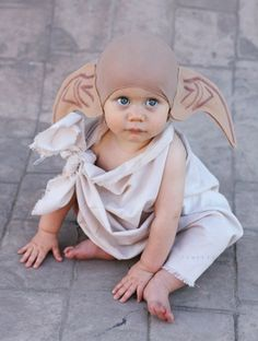 This little one makes the perfect Dobby from Harry Potter! Too cute!