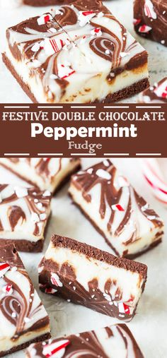 In this post I'm going to show you wonderful and sweet Double Chocolate Peppermint Fudge. Well, that's a great choice and is an especially fun for baking. These festive fudge bites are rich and decadent, perfect edible gift to share with family & friends. Easy Pumpkin Pie, Pumpkin Pie Bars, Christmas Desserts, Christmas Treats, Christmas Fudge, Christmas Recipes, Diy Christmas, Christmas Decorations, Delicious Desserts
