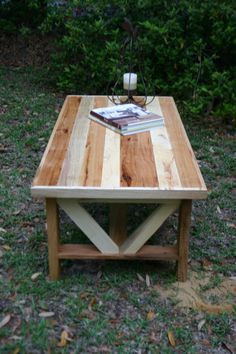 I'm in love with reclaimed wood. Love it Reclaimed Wood Coffee Table Clear Stain Cody by GreenSouthLiving, $325.00