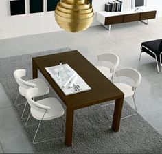 modern white 4 dining room chairs