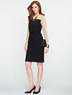 Talbots - Colorblocked Ponte Dress | Dresses | Petites