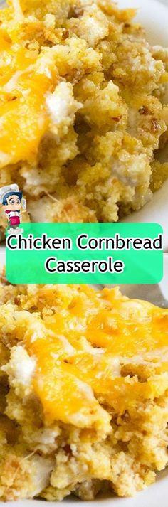 Chicken+Cornbread+Casserole Chicken And Dumplings, Butter Chicken, Crustless Broccoli Quiche, Microwave Peanut Butter Fudge, Avocado, Real Food Recipes, Healthy Recipes, Cornbread Casserole, Beef Stew Meat