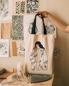 Diy Tote Bag, Reusable Tote Bags, Painted Bags, Embroidery Bags, Fabric Bags, Shopper Bag, Cotton Bag, Cloth Bags, Handmade Bags