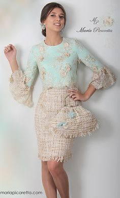 Sleeves design is an important aspect of any clothing's item-such as blouse, top, or dresses we create. Pretty Dresses, Beautiful Dresses, Hijab Fashion, Fashion Dresses, Dress Skirt, Dress Up, Lace Skirt, Short Dresses, Formal Dresses