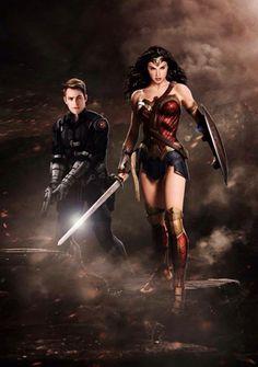 longlivethebat-universe:  Wonder Woman and Steve Trevor by Don Jack