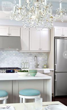 Kitchen chandelier {PHOTO: Virginia Macdonald}