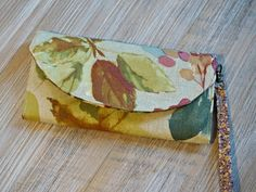 Women's Floral Fabric Wallet - Fall Inspired Ladies Large Wallet - Autumn Design Women's Organizer Wristlet Wallet by theWatermelonDesign on Etsy