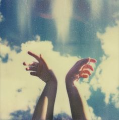 dreamy, nostalgic, hand against cloudy blue sky, lomography Kunst Tattoos, Film Photography, Pretty Pictures, Aesthetic Pictures, Daydream, Instagram, In This Moment, Feelings, World
