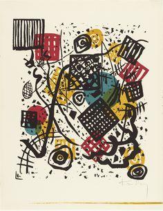 "Wassily Kandinsky Small Worlds V, from the portfolio ""Small Worlds"" Pierre Bonnard, Edvard Munch, Wassily Kandinsky, Kandinsky Prints, Vintage Wall Art, Vintage Walls, Heaven Art, Harvard Art Museum, National Gallery Of Art"