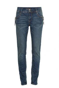 Se disse fede Denim Hunter Ruby Curved Blue Denim jeans