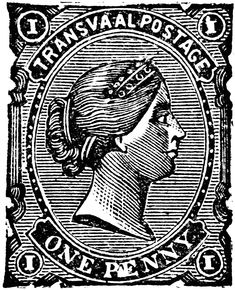 South African Republic One Penny Stamp, 1878-1881   ClipArt ETC Stamp Collecting, Digital Stamps, African Art, Vintage Ads, Postage Stamps, Clip Art, History, British Colonial, Chapter 3