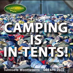 When camping, the more friends and family, the better! Tuinroete Woonwaens wishes you all a fun Friday and a delightful weekend. #camping #funfriday #outdoorliving