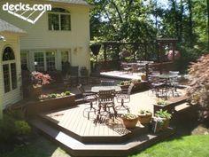 multi-level deck ideas | Multi Level Deck Picture Gallery