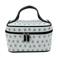 Addicted Black & White Skull and Crossbones Makeup Bag / Purse : Purses & Bags