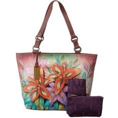 Buy Anuschka Handbags - 524 (Luscious Lilies) - Bags and Luggage online - Zappos is proud to offer the Anuschka Handbags - 524 (Luscious Lilies) - Bags and Luggage: Feel exotic and prepare to be noticed with this hand painted leather handbag that features a tropical floral theme.