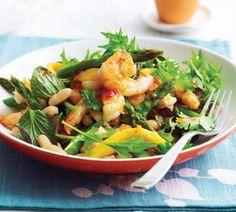 Prawn, asparagus and mango salad