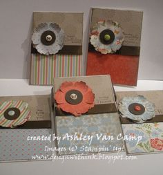 Stampin UP Mixed Bunch card sets in tin  - cute and easy!