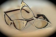 Love Marnie EyeCandy  Adorned with genuine Swarovski crystals. Each pair is made to order. We are happy to embelish your favourite frames contact us for more information. www.marniegrundman.com