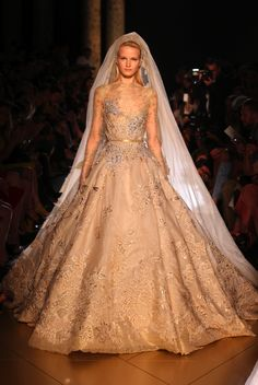 I remember crying as I watched this go down the runway. I can't believe I had the experience to be at one of his shows. ELIE SAAB Haute Couture Fall Winter 2012-13