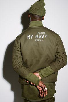 aime leon dore ald teddy santis ny navy justin chung new york nyc fashion Military Inspired Fashion, Military Fashion, Mens Fashion, Fashion Outfits, Nyc Fashion, Fashion Details, Mode Style, Style Me, Dress Code