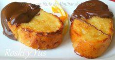 Torrijas con Baño de Almíbar de Naranja y Chocolate
