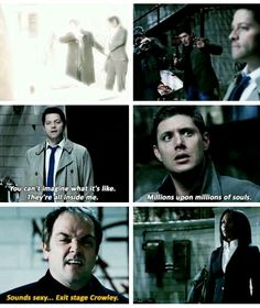 This scene breaks my heart. It just shows how obsessed Cas got with power and how he's abandoning his ideals. 6x22 The Man Who Knew Too Much.