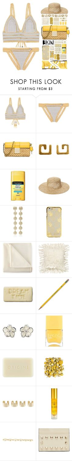 """""""""""Sun's Out: Beach Day"""" - Contest"""" by ritaof ❤ liked on Polyvore featuring SHE MADE ME, MICHAEL Michael Kors, Dutch Basics, Neutrogena, Maison Michel, Martex, Dot & Bo, Dixon Ticonderoga, Shaun Leane and Nails Inc."""