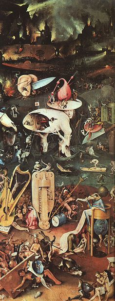 "Down below was a place that looked like Wickham Hall—the same Mount Vernons and Gothic arches and Victorian woodwork—but also like the third panel of Bosch's Garden of Earthly Delights. In other words: hell."" #LIVFOREVER"