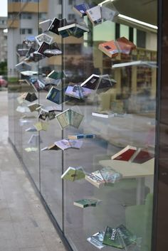A bookstore front