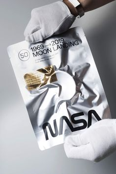 The Moon Brace is a slip-on stainless steel, matt furnished bracelet with the landing time and NASA logo embossed. Collaboration with Shannnam. Bag Packaging, Packaging Design, Branding Design, Apollo 11 Mission, Moon Time, Moon Landing, Web Design, Graphic Design, Thing 1