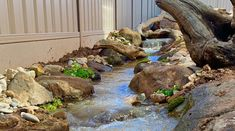 At NatureBuild we specialize in Natural Water features, Ponds, Timber pergolas, decks and bridges, stone and boulder work and landscape construction/design using natural materials. Backyard Stream, Stone Water Features, Pond Waterfall, Planting Plan, Landscape Services, Construction Design, Water Garden, Waterfalls, Natural Materials