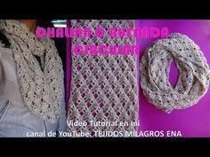Bufanda o Chalina Circular tejida a crochet fácil y rápido - YouTube