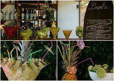 Menu de drinks para casamento na praia - Foto KN Photos e Elaine M. Fotografias