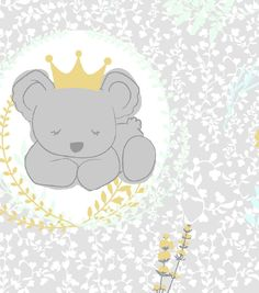 Nursery Cotton Fabric 43''-Royal Koala Allover