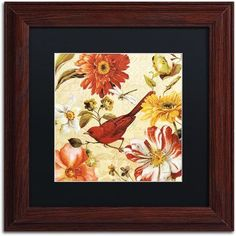 Trademark Fine Art Rainbow Garden Spice Iii Canvas Art by Lisa Audit, Black Matte, Wood Frame, Size: 16 x 16, Multicolor