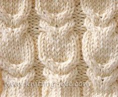 Branch Cable Stitch free knitting pattern on Knitting Bee at http://www.knitting-bee.com/knitting-pattern-treasury/cable-knitting-patterns/branch-cable-stitch