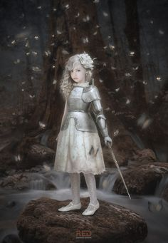 Strange character, a little girl in half plate armor wiith anmagic wand? Hope by George Redreev