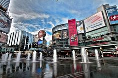 Heart of the city, Yonge and Dundas My Kind Of Town, City Streets, Beautiful Landscapes, Ontario, Toronto, Times Square, Canada, Places, Travel