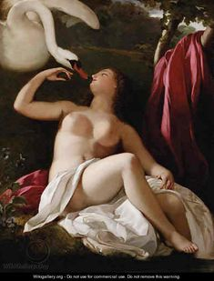 Leda and the Swan - French School