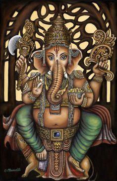 Make this Ganesha Chathurthi 2020 special with rituals and ceremonies. Lord Ganesha is a powerful god that removes Hurdles, grants Wealth, Knowledge & Wisdom. Ganesh Lord, Sri Ganesh, Om Gam Ganapataye Namaha, Om Namah Shivaya, Indian Gods, Indian Art, Ganesh Jayanti, Lord Ganesha Paintings, Ganesha Drawing