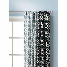 """54""""x84"""" Target Home™ Farrah fretwork window panel- Love both of these, but definitely want the black ones for the office"""