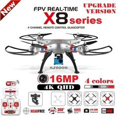 116.93$  Watch now - http://aliij0.worldwells.pw/go.php?t=32674667475 - SYMA X8C X8W X8G X8HG X8 RC Drone With SJ9000 16MP 4K WiFi Camera 2.4G 4CH FPV Quadcopter Professional Drone Helicopter 4 Colors