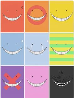 Koro- sensei face, so cute~~ Otaku Anime, Manga Anime, Anime Art, Fanarts Anime, Anime Characters, Koro Sensei Face, Anime Diys, Tsurezure Children, Nagisa And Karma